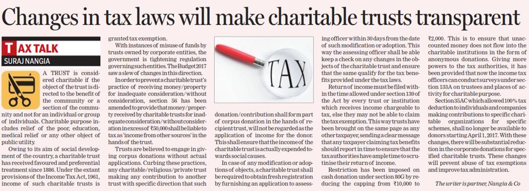 Suraj Nangia - Changes in Tax Law
