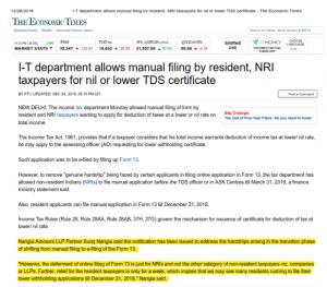 Suraj Nangia - NRI Taxpayer