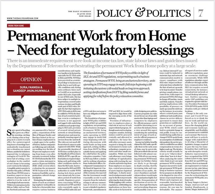 Suraj Nangia Parmanent Work From Home